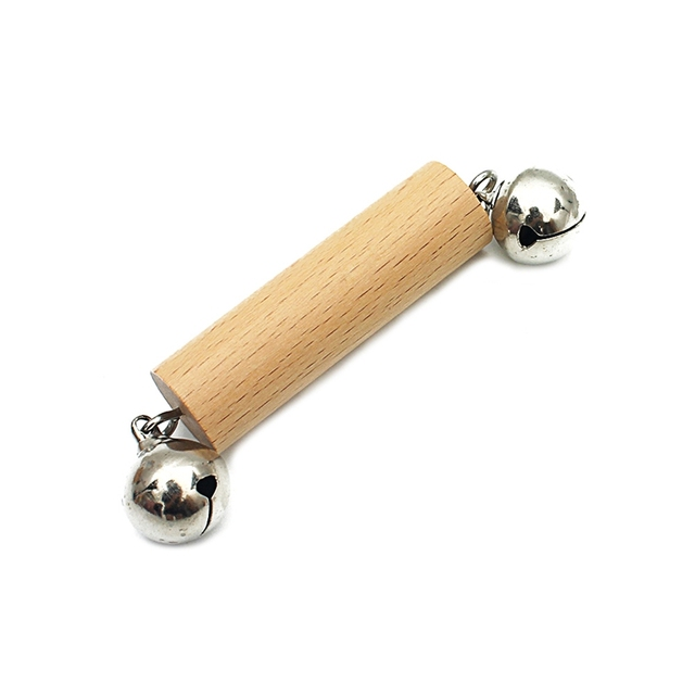 Wooden Rattle with Bells