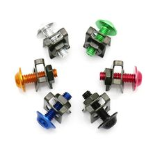 10Pcs Aluminium High quality M5 5mm Fairing Bolts Fastener Clips Screw Spring Nuts Car Motorcycle Accessories Metal &