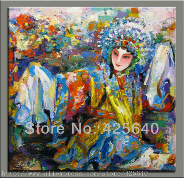 Pop Art Oil painting on canvas hight Quality Hand-painted Painting Chinese Opera oil paintingPop Art Oil painting on canvas hight Quality Hand-painted Painting Chinese Opera oil painting