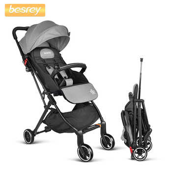 Besrey Baby Folding Stroller Lightweight for Newborn in Four Wheels Baby Trolley Travel Kids Carriage Pram - DISCOUNT ITEM  0% OFF All Category