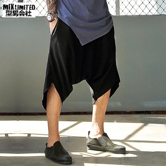 f8ac3fc503 Metrosexual Men Black Loose Casual Shorts Men Cotton Brand Design Fashion  Street Style Summer Short Pants