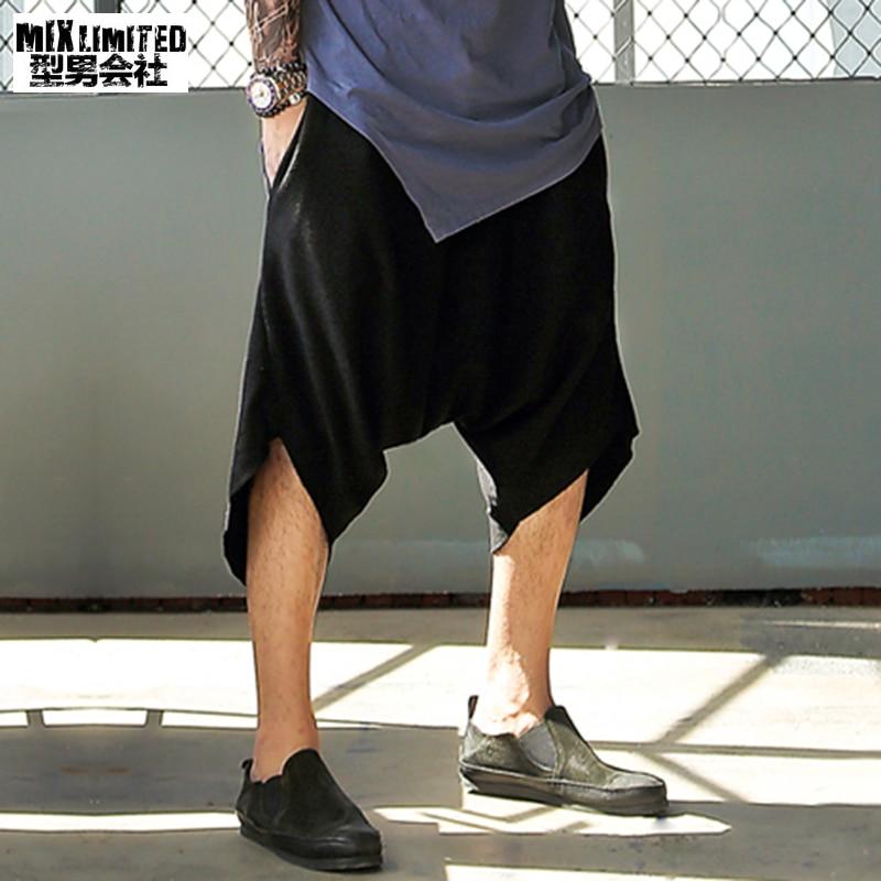 Metrosexual Men Black Loose Casual Shorts Men Cotton Brand Design Fashion Street Style Summer Short Pants Men Hot Sale Shorts