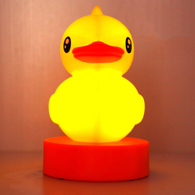 Factory Price Rubber Duck LED Night Lamp Table Home Decoration Cute Usb Or  Battery Promotion Free