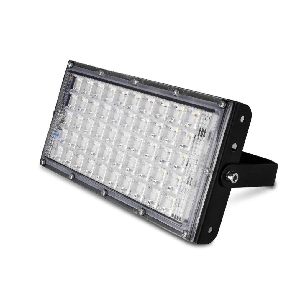 50W PIR Motion Sensor LED Flood Light AC 110V Cool White Lamp Outdoor Spotlights