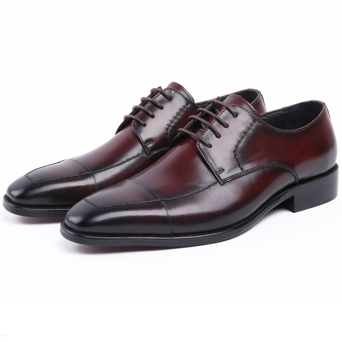 Fashion Pointed Toe Black /Brown Tan U-Tip Wedding Shoes Mens Business Shoes Genuine Leather Oxfords Dress Shoes Boys Prom Shoes loisword large size eur45 brown black pointed toe loafers men dress shoes genuine leather business shoes mens wedding shoes page 8