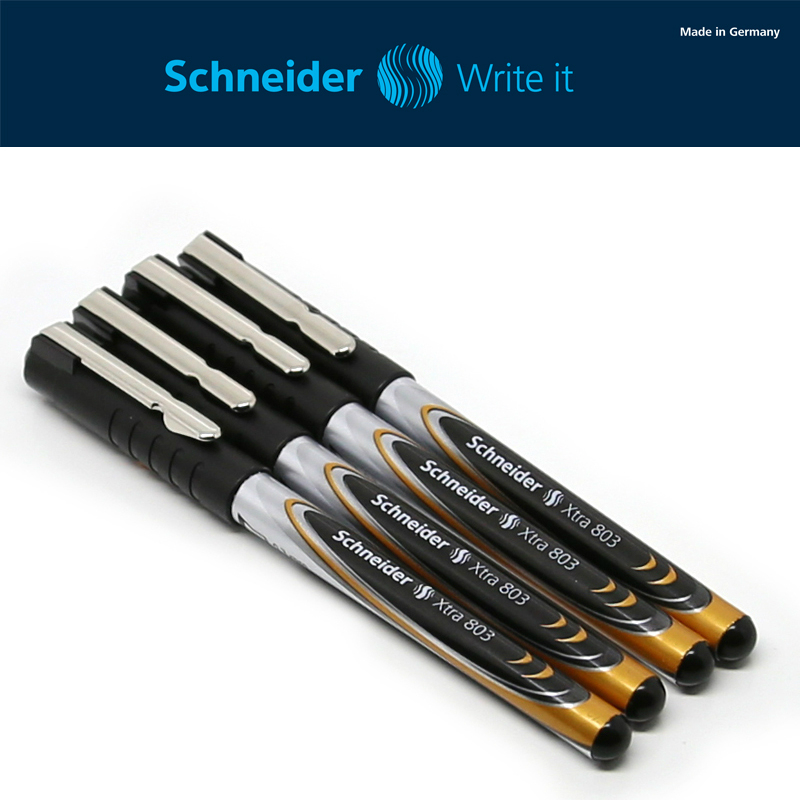 Authentic Germany Schneider Xtra803/823 Gel pen Ballpoint Pen Signing Pen 0.3mm Student Exam Writing Smoothly Office Supplies 4pcs set germany schneider gel pen signing pen highlighter marker pen 0 6mm 0 3mm 0 5mm 1 4mm leather pencil box case gift
