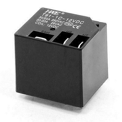 T9-1C-12VDC DC 12V Coil Volt Voltage SPDT 5 Pin PCB Type Power Relay 30/20A 250VAC 28VAC