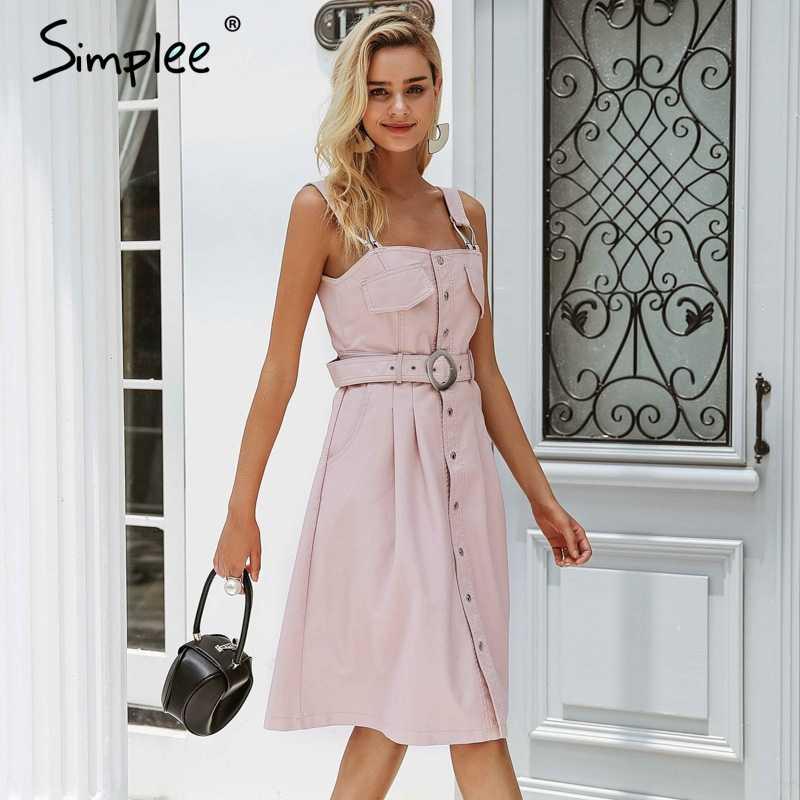 Simplee ремень Передняя Кнопка женское платье офисный винтажный пояс pu кожа сексуальное платье 2018 осень зима Дамские платья плюс размер