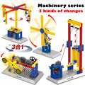 Собран преподавания механические группа электрический строительные блоки детский интеллектуальное развитие мозга игрушки подарок детский holid