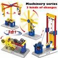 Ensamblados enseñanza grupo mecánica cerebro desarrollo intelectual de los niños bloques de construcción eléctrica de juguete de regalo para niños holid