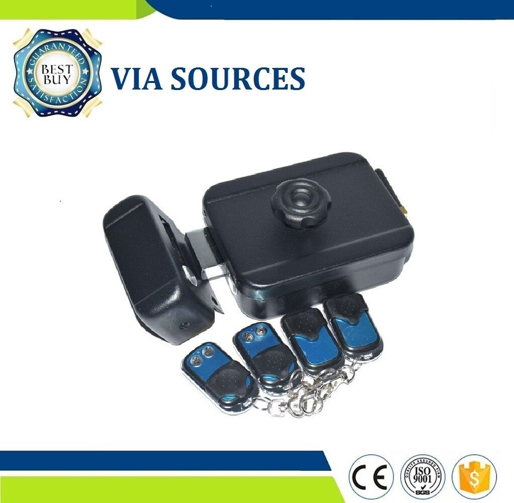 VIA SOURCES château verrou électrique de sécurité à domicile batterie télécommandes sans fil porte extérieure