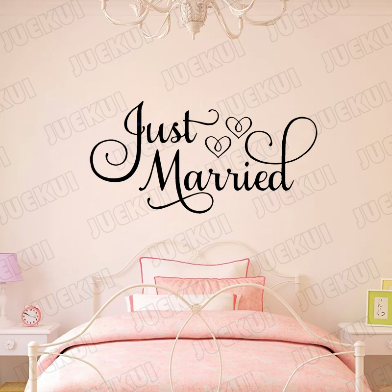 Just Married Quotes Vinyl Sticker For Living Room Car Decor Enchanting Just Married Quotes