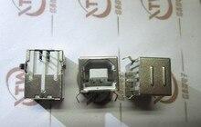 Ouverture carrée USB prise USBB mère mère de cuivre 90-degré de courbure aiguille de fer shell nouveau et original 10 PCS