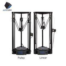 Anycubic 3d-принтер шкив версия руководство diy kit коссель дельта большой размер печати 3d-металл принтер