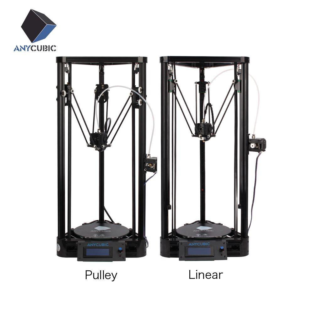 Prix pour Anycubic 3d imprimante poulie version linéaire guide diy kit kossel delta grande taille d'impression 3d en métal imprimante