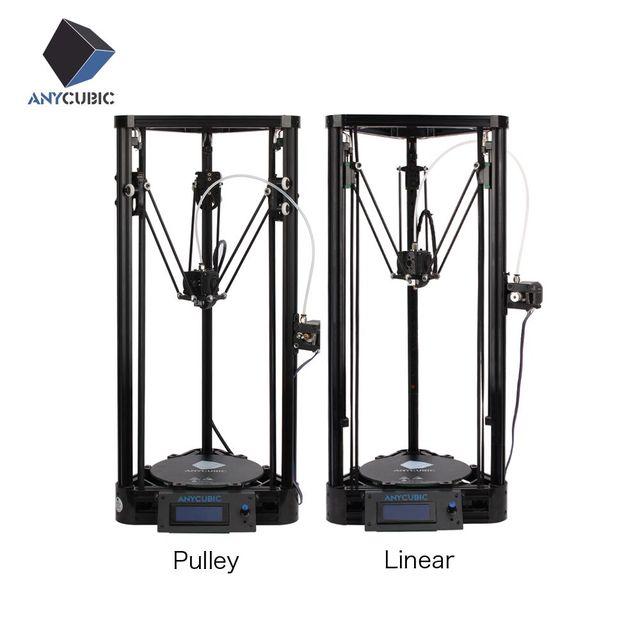Anycubic impresora 3d versión de la polea guía lineal diy kit kossel delta de gran tamaño de impresión impresora de metal 3d