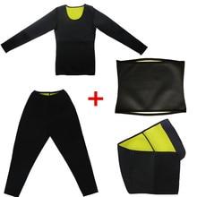 Body Shapers Pants Long Sleeves Men Slimming T-Shirt Waist Trainer Belt Fat Burning Shaperwear Sweat Sauna Modeling Strap Corset