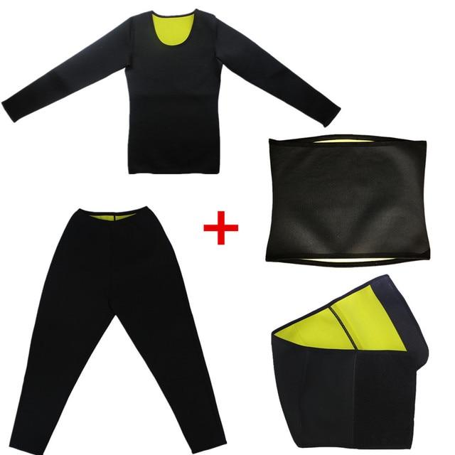 Men Slimming T-Shirt Waist Trainer Belt Body Shapers Pants Long Sleeves Fat Burning Shaperwear Sweat Sauna Modeling Strap Corset 1