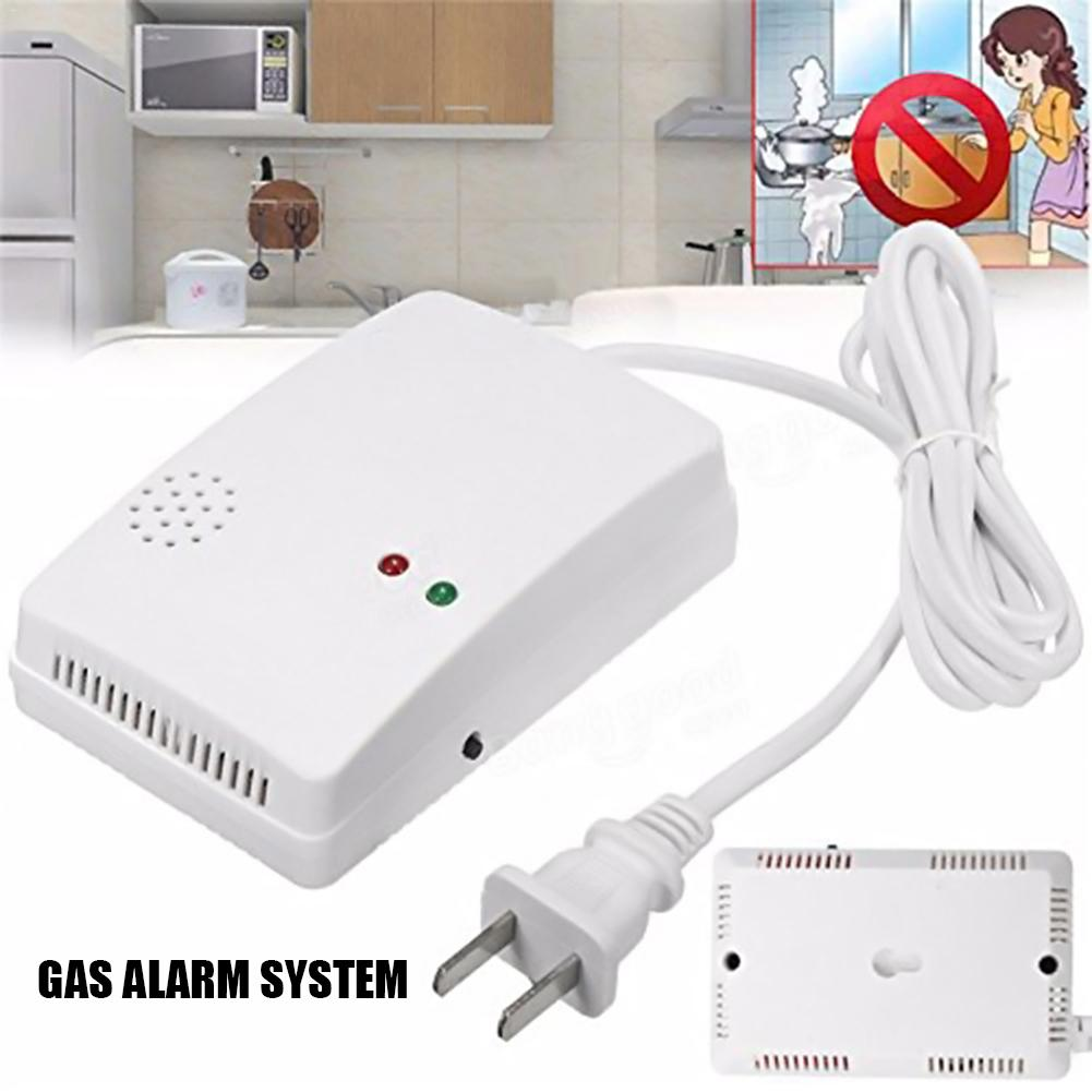 Gas Alarm Natural Gas Kitchen Gas Detector Liquefied Gas Combustible Gas Leak Detection Probe (color Box)