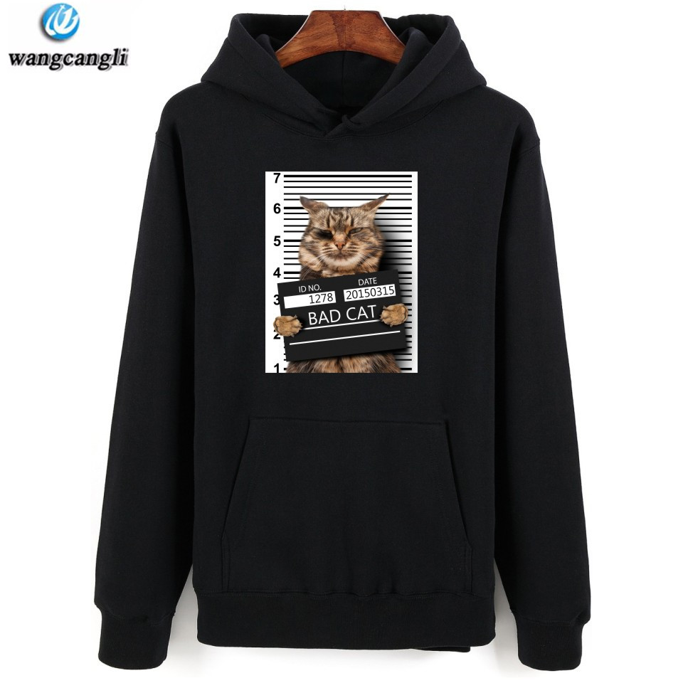 Cartoon Bad Cat Hoodies Men/Women Lover Cat Long Sleeve Hoodie Sweatshirt Casual Kawaii Jacket Coat Harajuku Clothes Plus Size