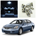 10 pcs Branco Lâmpadas LED Interior Package Kit Para 2007-2012 Nissan Altima Sedan Mapa Dome Matrícula lâmpada Nissan-B-02