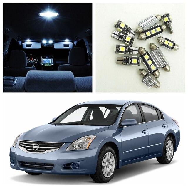 10pcs White Led Light Bulbs Interior Package Kit For 2007 2012
