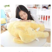 купить Cartoon 60cm Height Large Plush Elephant Doll Toy Kids Sleeping Back Cushion Cute Stuffed Elephant Baby Accompany Doll Xmas Gift онлайн