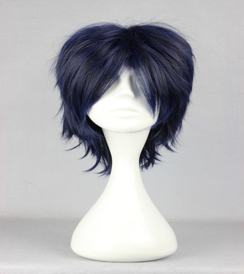 HAIRJOY Synthetic Hair Man Mint Green Layered Short Straight Male Cosplay Wig Free Shipping 5 Colors Available 49