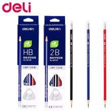 Deli Standard Pencils 12 Pcs/set HB Triangle Pencils With Eraser for Child Learn to Write Comfortably School Writing Stationery стоимость