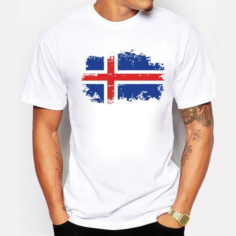 BLWHSA European Iceland Fans Cheer Tshirt for Men National Flag Fans Cheer Men T-Shirts Fashion Fans T shirts for Men Tops