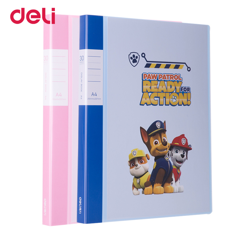 Deli Paw patrol A4 30/40/60 multi-layer file folder for school office documents supplies PP cartoon transparent display book deli a4 file folder for documents office stationery supplies pp folder data book folder 80 pages a4 clip business folder