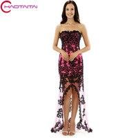 Prom Dresses 2017 Plus Size Cheap Short Front Long Back Mother Of The Bride Dresses Lace