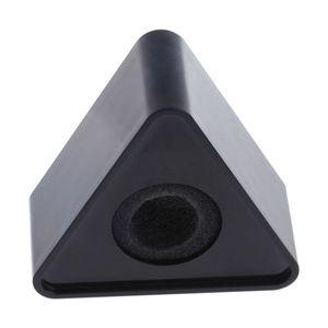Image 3 - OOTDTY ABS plastica microfono intervista triangolare Logo Flag Station nero/bianco durevole