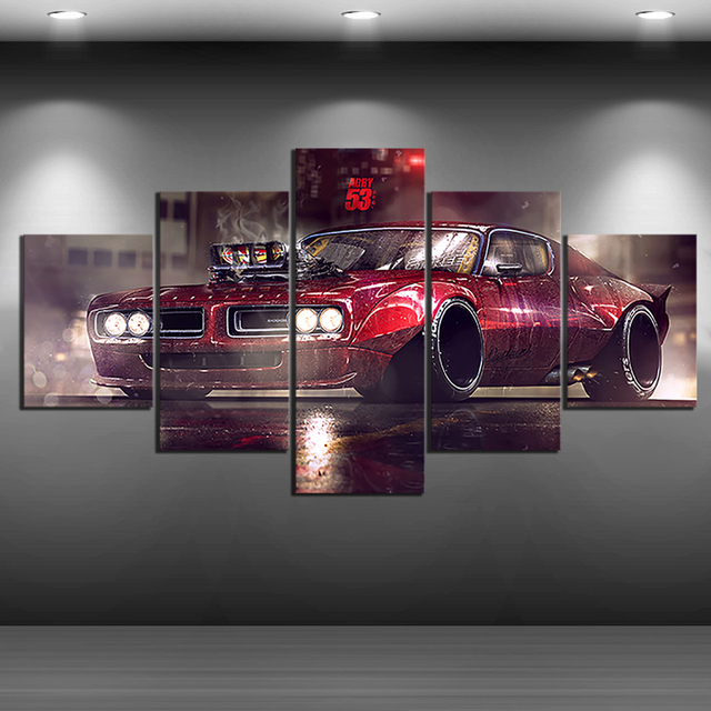 Hd Print Vehicle American Muscle Car Pontiac Gto Retro Sport Car
