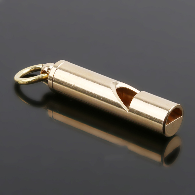 1pc Outdoor Handmade Vintage Pure Brass Whistle Survival Supplies Camping Outdoor Water Sport Rescue Survival