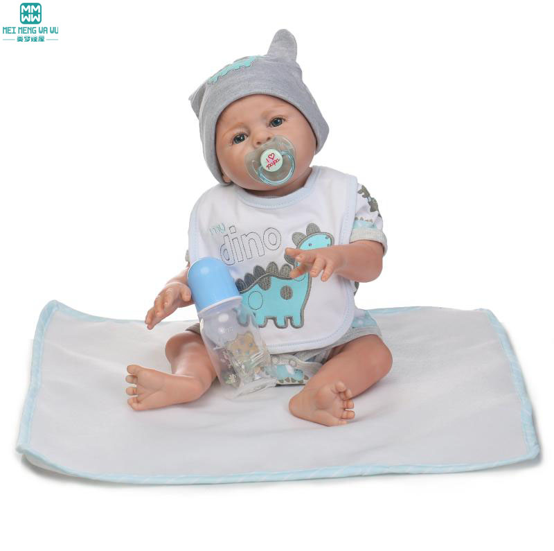 50cm high quality Silica gel baby dolls/baby Limbs activity for Child's birthday gifts damask silica gel mold