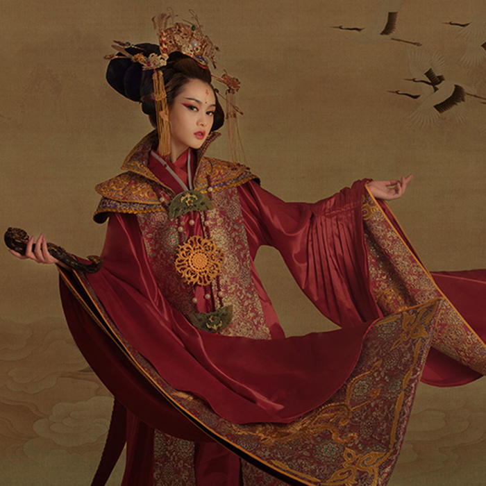 Kun Lun 2016 Exhibition Autumn New Thematic Costume Domineering Tang Empress Costume for Women Female Costume