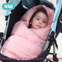 AAG Baby sleeping Bag Warm Windproof Stroller Sleepsacks Robe Bunting Footmuff Blanket Newborn Accessories 40