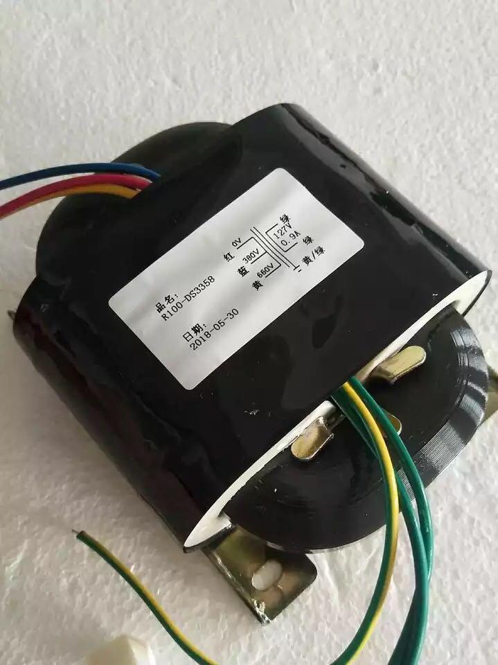 127V 0.9A R Core Transformer 100VA R100 custom transformer 0-380-660V copper shield Power amplifier