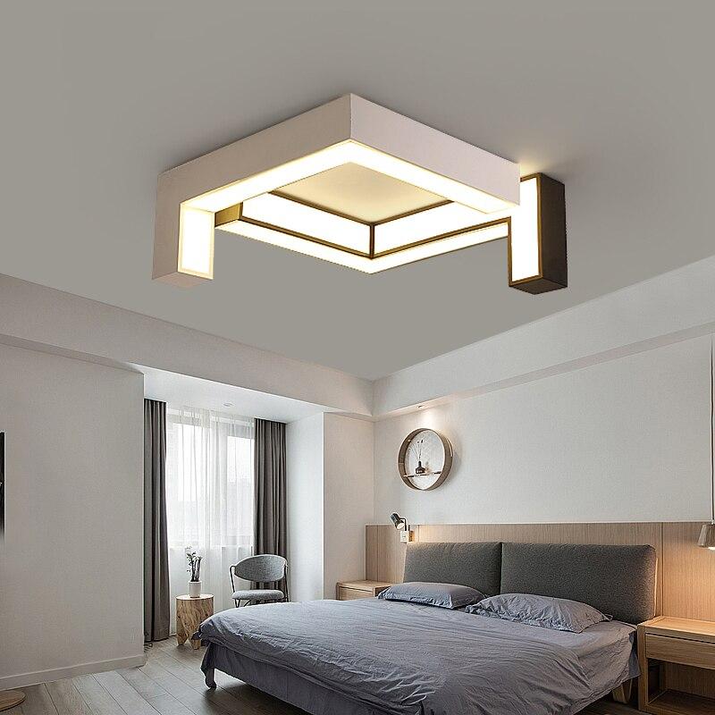 DIY White or Black Modern led ceiling chandelier lights for bedroom Children Room Living Room AC85-265V chandelier fixtures