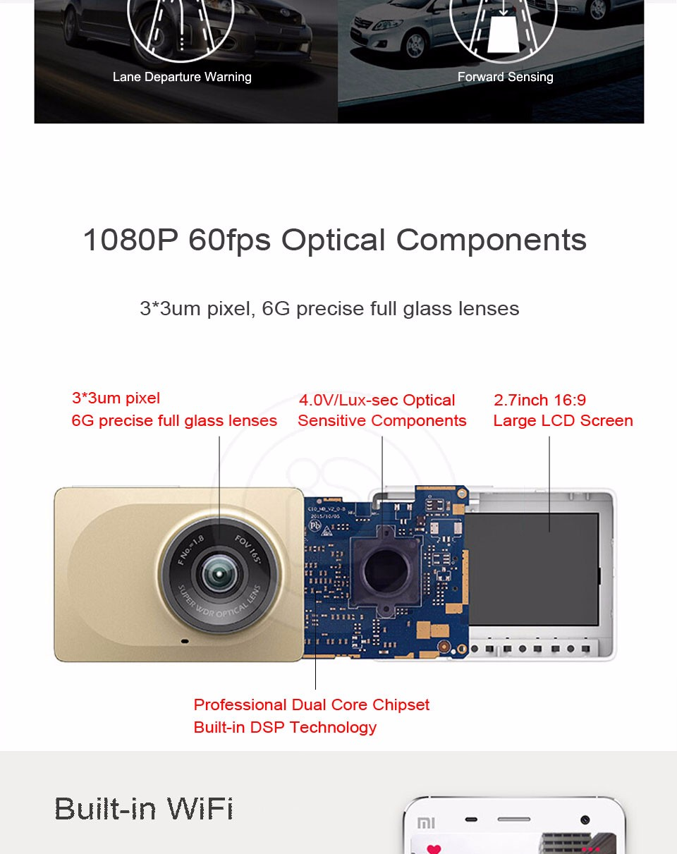 Xiaomi YI Smart Dashcam Car DVR (5)