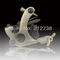 free shipping One Custom Pro Top Carbon Steel 10 Wrap Coils Tattoo Machine Gun Supply tattoo machinegood quality