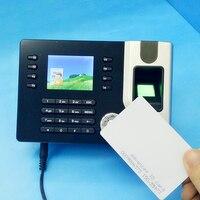TCP/IP Biométrique D'empreintes digitales Temps de présence Horloge avec ID Lecteur de Carte + USB Système de Gestion Des Présences Livraison Logiciel