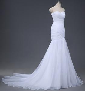 Image 3 - NOBLE WEISSในสต็อกSweetheartจีบOrganzaทรัมเป็ตMermaid Lace Up Backงานแต่งงานชุดเจ้าสาวจัดส่งฟรี0921