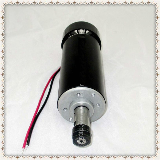 Free Sipping Air cooled 0.5kw Air cooled spindle ER11 chuck CNC 500W Spindle Motor + Power Supply speed governor For DIY CNC 0 5kw air cooled spindle motor er11 chuck cnc 500w spindle dc motor 52mm clamps power supply speed governor for diy cnc