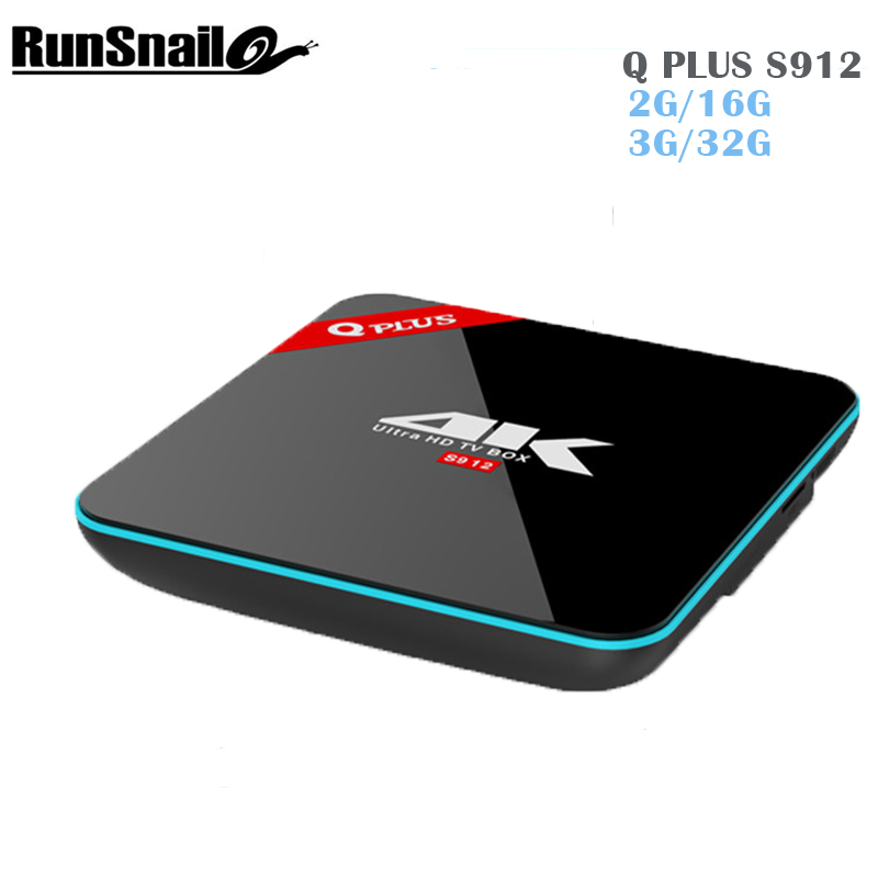 Newest Q  plus Amlogic S912 Android Tv Box 6.0 2G/16G 1000M LAN 2.4G/5G Wifi Bluetooth 4.0 Kdplayer smart media player Q plus