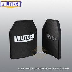 MILITECH 10X12 2 PCs Alumina & PE NIJ 0101,06 STUFE III + Kugelsichere Gewehr Platte Al2o3 NIJ 3 + Stand allein Ballistic SAPI Platten