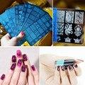 1 UNID BC Serie 20 Diseños Nail Art Sello Plantilla de Acero Inoxidable de Encaje Flor Animales Herramienta de Estampación Placas de Uñas de Manicura