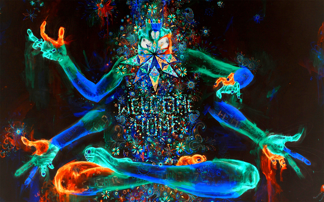 Psychedelic Trippy Tapestry Home Decoration Paper Poster Wallpaper Printing Art Good Gift Size 50X75CM