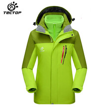 Autumn winter TECTOP Women jaqueta feminina two-piece warm waterproof breathable windproof jacket Camping Hiking Women jacket